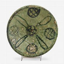 Amol ware sgraffiato footed bowl, Persia, circa 11th-12th century A.D.
