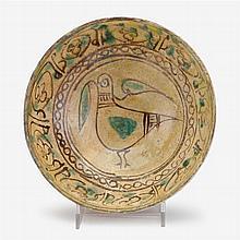 Nishapur slip-painted pottery bowl, Persia, circa 10th century A.D.