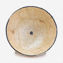 Kashan pierced pottery bowl, Persia, circa 12th century