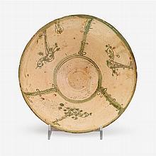 Amol ware sgraffiato pottery bowl, Persia, 12th century