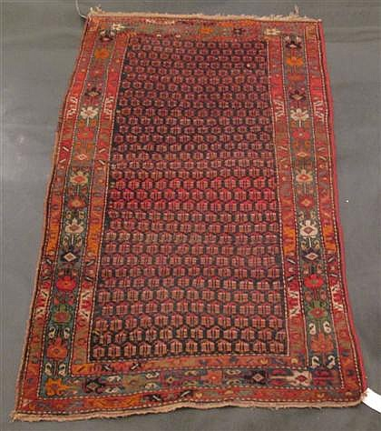 Two Kurdish carpets, Northwest Persia, circa 1900; one 8 ft. 2 in. x 4 ft. 8 in. and one 7 ft. x 4 ft. 1 in., ,