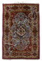 Silk and metal thread Souf Kashan rug, central persia, circa 1900,