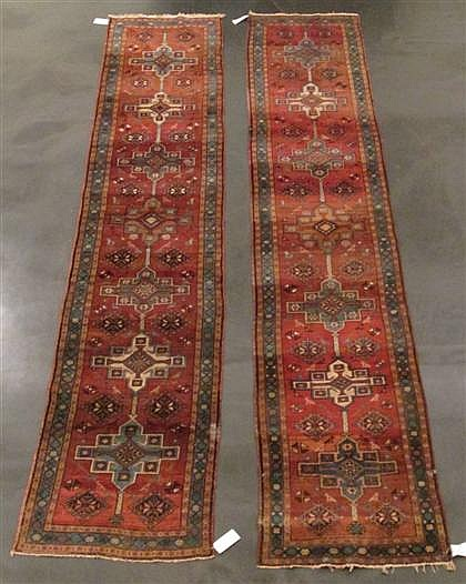 Pair of Karadja runners, northwest persia, circa 1930,
