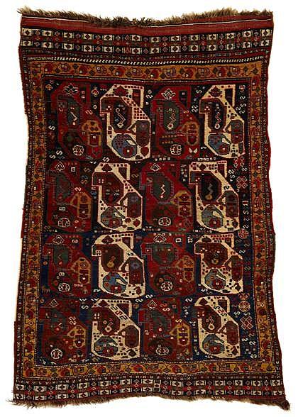 Khamseh rug, southwest persia, circa 1900,