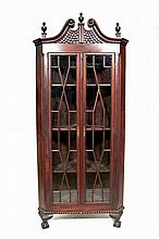 Chippendale-style corner cupboard, early 20th century,