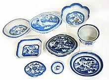 Group of Chinese Export Porcelain Canton serving pieces, 19th century,