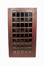 Diminutive painted and glazed corner cupboard, early 19th century,