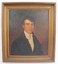 American School 19th century, portrait of a gentleman, oil on canvas, framed,