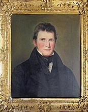 American School 19th century, portrait of a young gentleman, oil on canvas, framed,