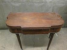 Pair of Federal mahogany folding top games tables, philadelphia, pa, circa 1815,