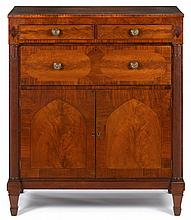 Classical inlaid mahogany straight front chest of drawers, attributed to richard allison (1780-1825), new york, ny,