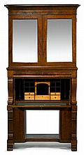 Late Classical mahogany secretary bookcase, attributed to john needles, baltimore, circa 1835,