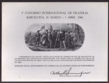 United States Scott SC2 Barcelona Souvenir Card SCV.$225