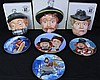 Eclectic Collection of Red Skelton Signed Plates & Masks