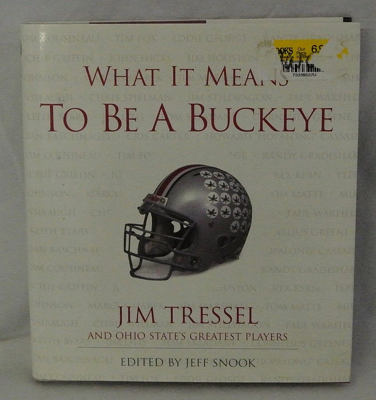 Jim Tressel Ohio State Autographed Buckeye Book