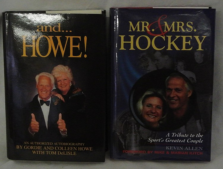 Pair of Gordie Howe Signed Hardcover Books