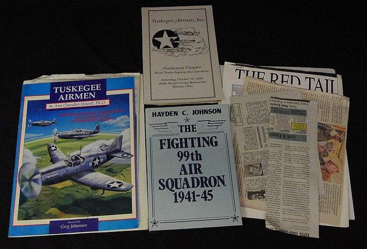 Tuskegee Airmen Signed Books & Collateral Material