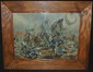 Hans Volck, Cleveland School Battle Scene Watercolor, Hans H. Volck, Click for value