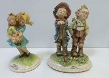 2 Tiziano Galli Italian Porcelain Children Figurines