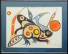 Watercolor of Spirit Animals by Ojibwa Artist Eddy Cobiness (1933-1996).