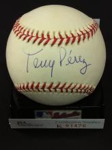 Tony Perez Autographed National League Baseball