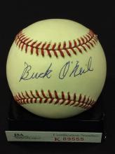 Buck O'Neil Autographed National League Baseball