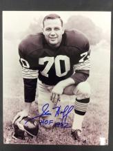 Sam Huff Autographed Photo With COA From