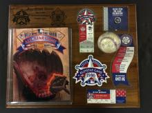 All Star Game 1995 Texas Rangers Memorabilia Wall