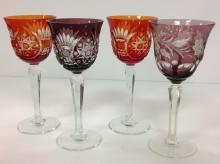 Selection Of Bohemian Czech Cut Crystal Stems