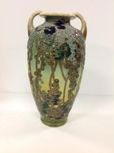 Antique 1800's Large Moriage Hand Painted Vase