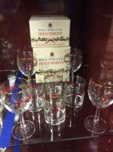 Royal Worcester Holly Holiday Stems And Glasses