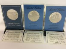 Selection Of Silver Eyewitness Medals With COA'S