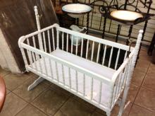 Vintage Swinging Baby Crib