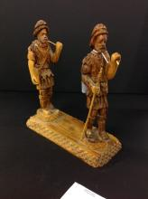 Hand Carved Tramp Art Figures