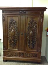 Antique Victorian Highly Carved Armoire