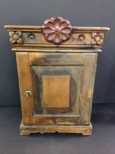 Early 1800's Small Locking Cabinet