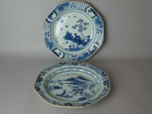 Pair Of Chinese Blue and White Dish