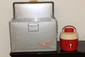 ALUMINUM COOLER AND WATER JUG FROM THE 60'S - 70'S - THERMASTER - ALL GOOD
