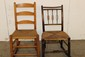 2 EARLY ROCKERS BOTH GOOD CONDITION WITH RUSH SEATS LATTER BACK AND SPLIT BACK