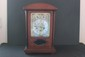 MAHOGANY MANTLE CLOCK MADE IN GERMANY WORKS GOOD COMPLETE