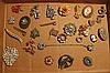 28 OLD COSTUME JEWELRY PINS - GREAT LOT