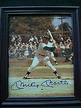 8 X 10 MICKEY MANTLE AUTOGRAPHED PHOTO