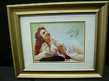 BLAZE STARR AUTOGRAPHED FRAMED PHOTO
