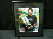 AUTOGRAPHED TONY HAWK FRAMED PHOTO