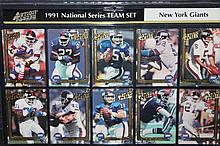 1991 NATIONAL TEAM SET N.Y. GIANTS - 10 CARDS