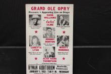 NEAT 1953 GRAND OLD OPRY STAR STUDDED MUSIC POSTER 22 X 14