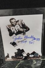ACE CERTIFIED JOHN MACKEY HOF 92 - 8 X 10 OFFICIAL AUTOGRAPHED PHOTO
