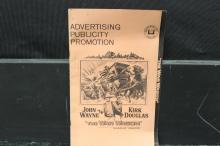 NEAT ADVERTISING PUBLICITY PROMOTION POSTER BOOK - THE WAR WAGON