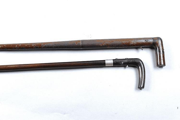 A 20-BORE WALKING STICK SHOTGUN of English