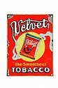 VELVET TOBACCO ADVERTISING SIGN.